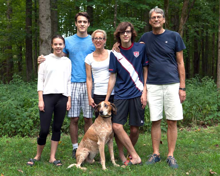 Caroline Jarrold with her family