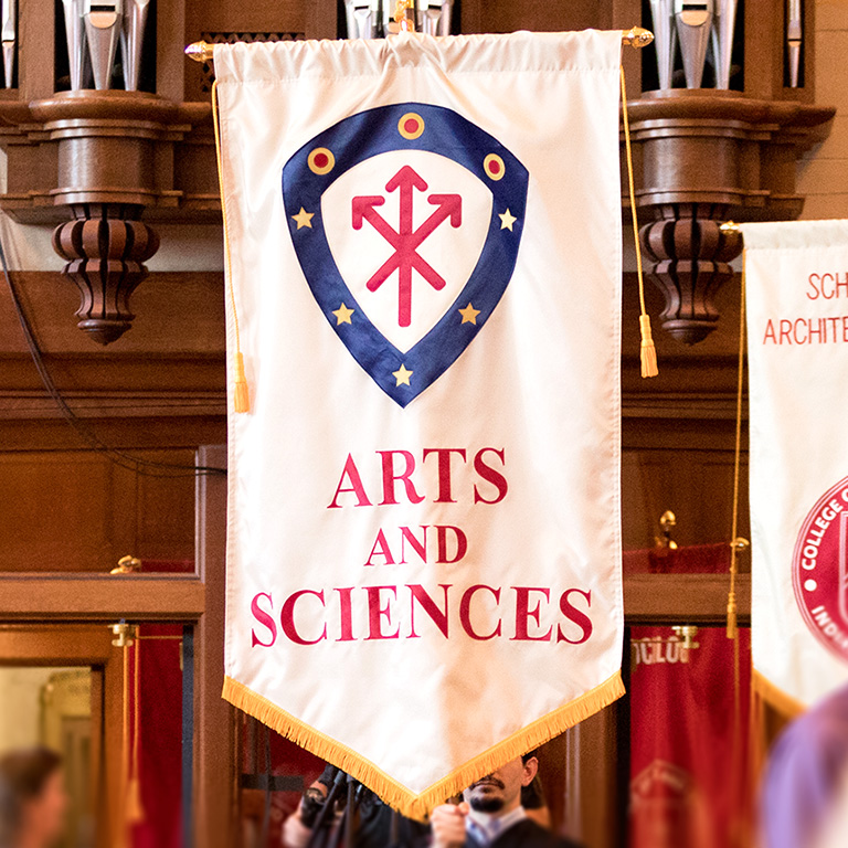 College of Arts and Sciences heraldic banner.