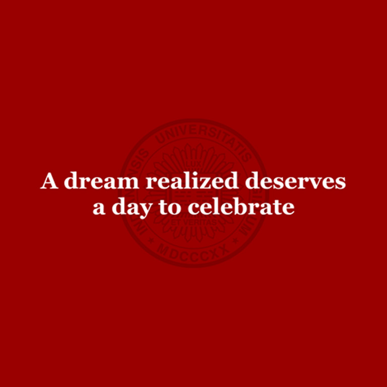 "Graphic reading, ""A dream realized deserves a day to celebrate."""